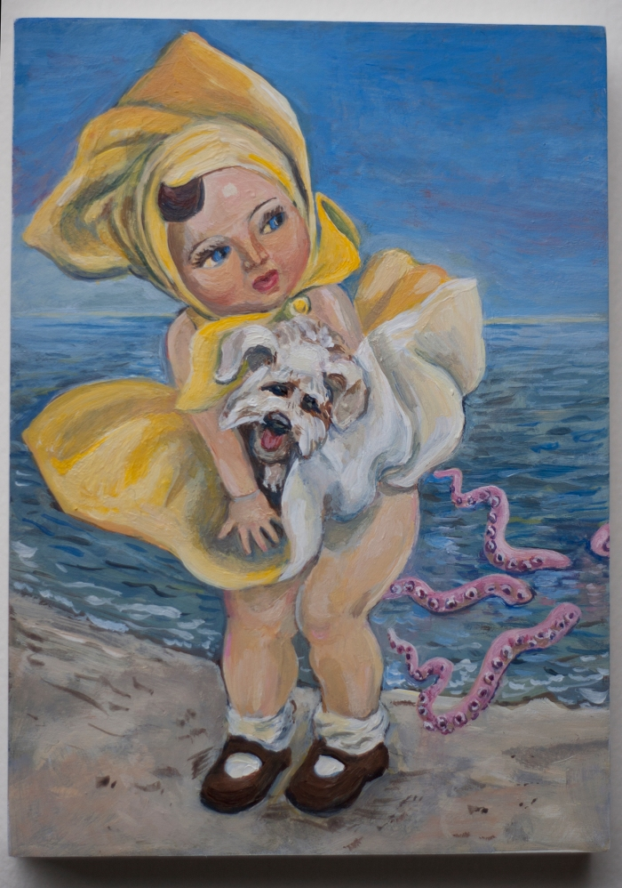 Consentino_2015_Beach Baby_acrylic on panel_5x7x.75in