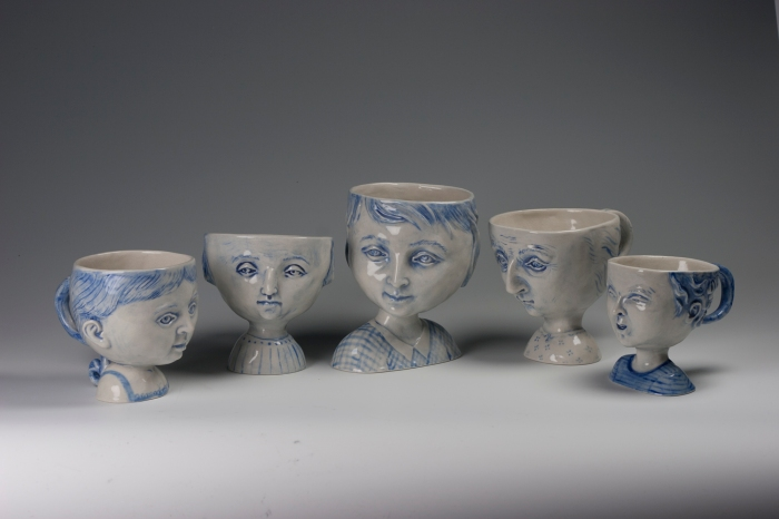 Ceramics, figurative, sculpture, clay sculptures, fine art for sale, figurine, wolf, rabbits, animals, hybrids, children, little girls, women, feminist, social commentary, pottery, busts, portraits, drawings, tiles, cups, cast iron, metal, charcoal, pencil, watercolor, ink, installation, exquisite corpse, nudes, surrealism, contemporary art, gender, tchotchke, kitsch, pop surrealism, postmodernism, domestic, beauty, familial roles, gender roles, low art, Madonna, gun control, gun culture, flower art, buy fine art, collect fine art, art collectors, art collections, fine art collectible, famous artist, renowned artist, valuable art, museum art, museum quality, pottery, cups