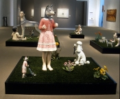 Ceramics, figurative, sculpture, clay sculptures, fine art for sale, figurine, wolf, rabbits, animals, hybrids, children, little girls, women, feminist, social commentary, pottery, busts, portraits, drawings, tiles, cups, cast iron, metal, charcoal, pencil, watercolor, ink, installation, exquisite corpse, nudes, surrealism, contemporary art, gender, tchotchke, kitsch, pop surrealism, postmodernism, domestic, beauty, familial roles, gender roles, low art, Madonna, gun control, gun culture, flower art, buy fine art, collect fine art, art collectors, art collections, fine art collectible, famous artist, renowned artist, valuable art, museum art, museum quality