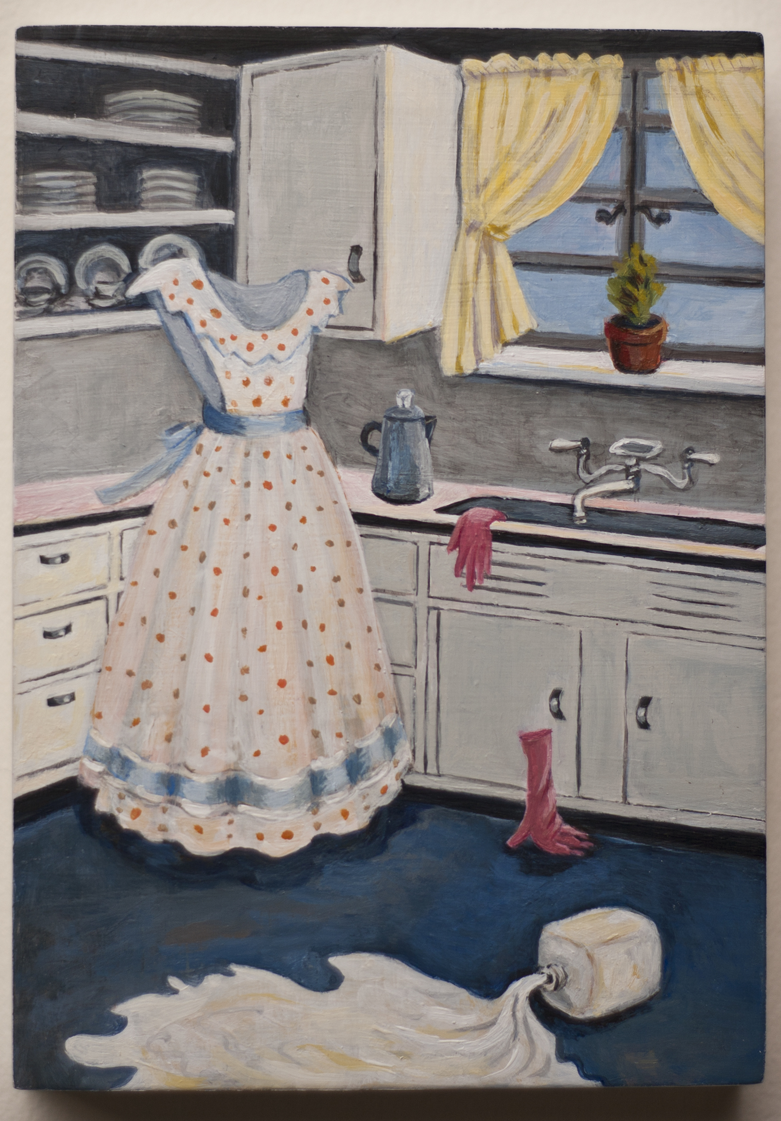 Consentino_2015_MyMother's Kitchen_acrylic on panel_5x7x.75in
