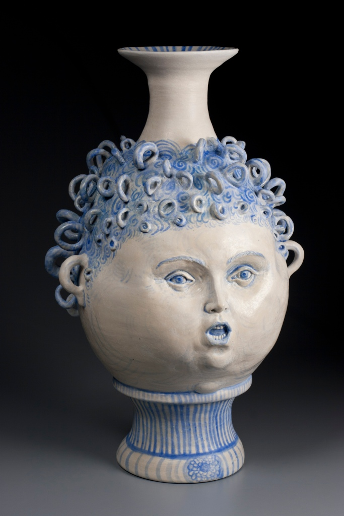 Ceramics, figurative, sculpture, clay sculptures, fine art for sale, figurine, wolf, rabbits, animals, hybrids, children, little girls, women, feminist, social commentary, pottery, busts, portraits, drawings, tiles, cups, cast iron, metal, charcoal, pencil, watercolor, ink, installation, exquisite corpse, nudes, surrealism, contemporary art, gender, tchotchke, kitsch, pop surrealism, postmodernism, domestic, beauty, familial roles, gender roles, low art, Madonna, gun control, gun culture, flower art, buy fine art, collect fine art, art collectors, art collections, fine art collectible, famous artist, renowned artist, valuable art, museum art, museum quality, installation, religious statues tchotchke, figurine