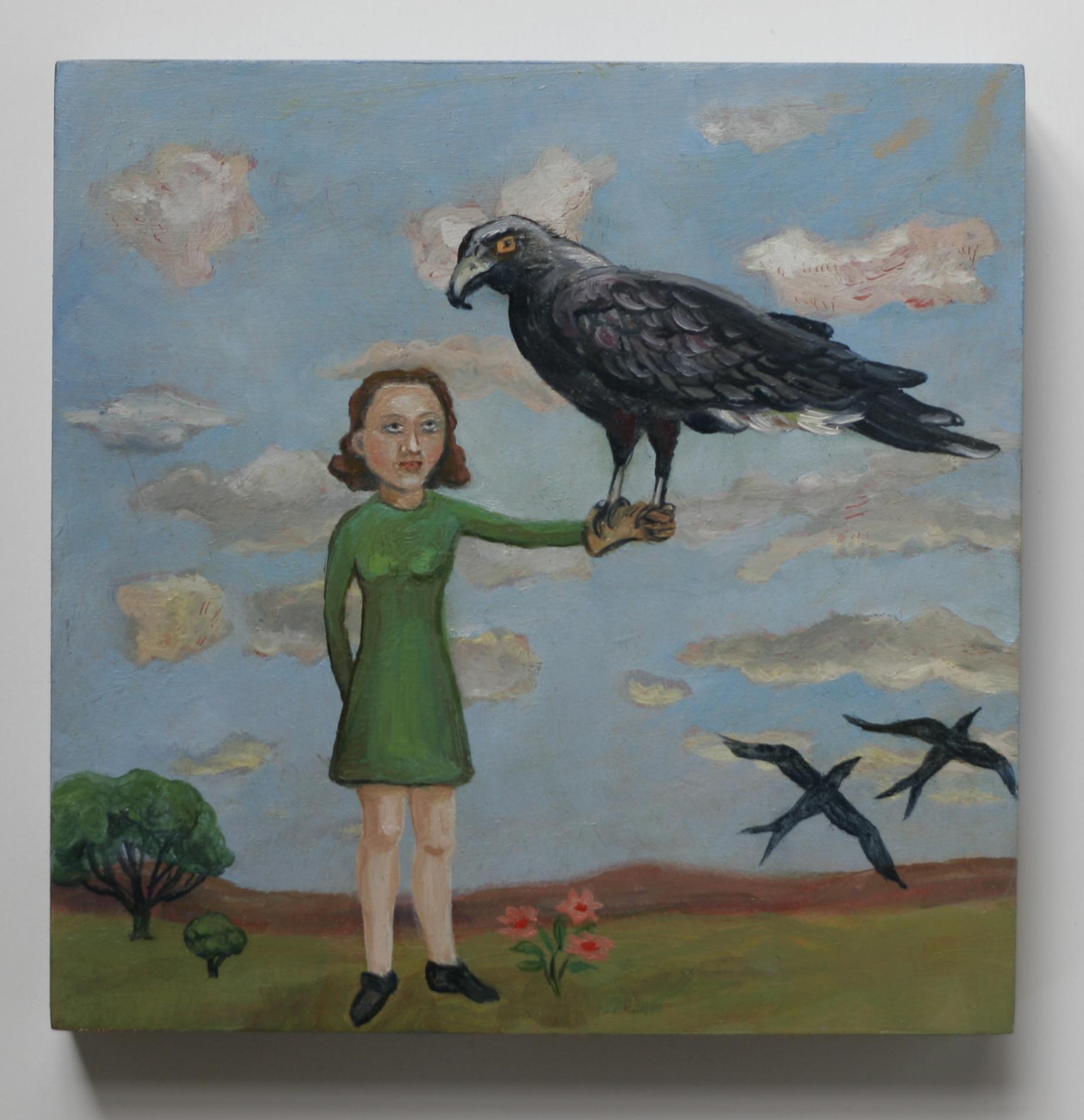 Girl with hawk2x3