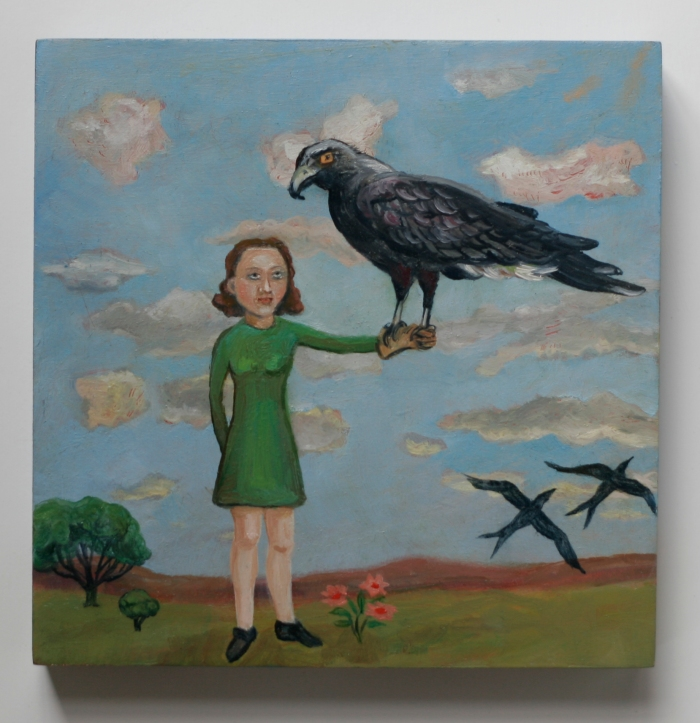 Girl with hawk2x3