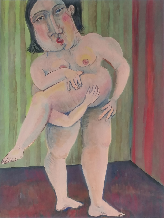 painting on paper, gouache, fine art, lovers,