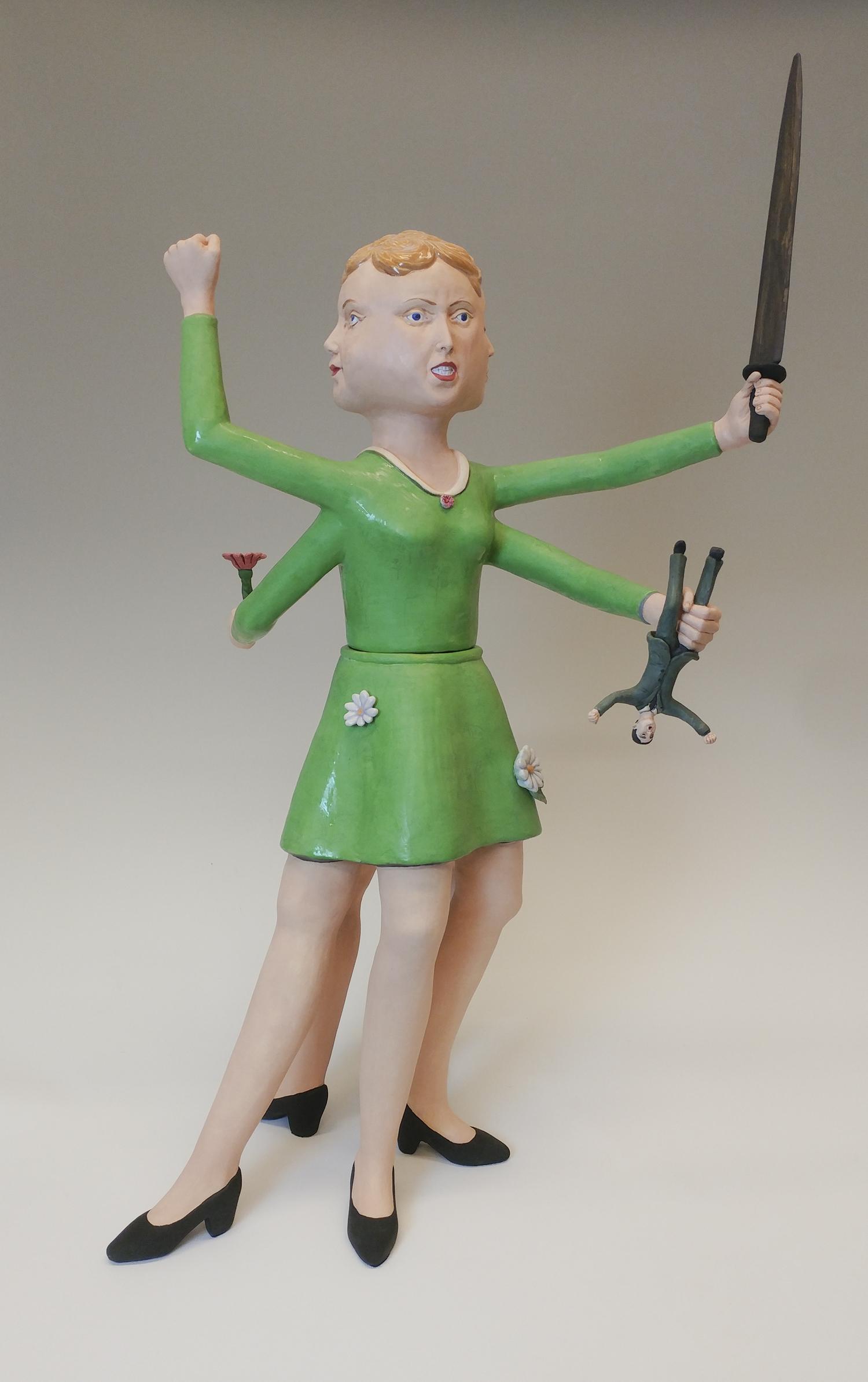 sculpture, political art, ceramics, figure